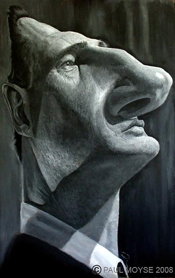 Caricatura de Liam Neeson