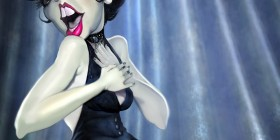 Caricatura de Liza Minnelli en Cabaret