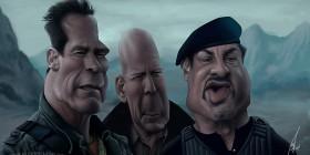 Caricatura de Los mercenarios 2