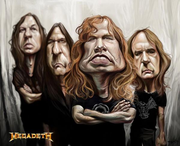 Caricatura de Megadeth