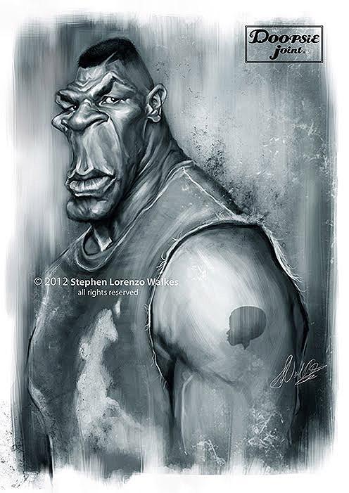 Caricatura de Mike Tyson