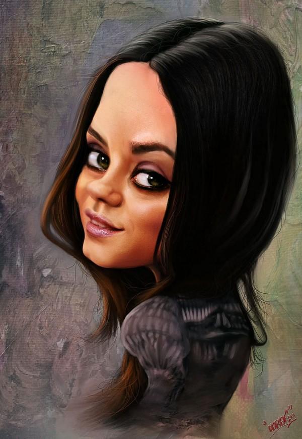 Caricatura de Mila Kunis