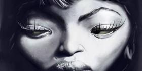 Caricatura de Naomi Campbell