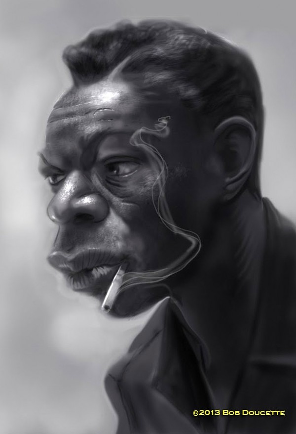 Caricatura de Nat King Cole
