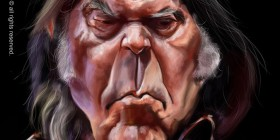 Caricatura de Neil Young