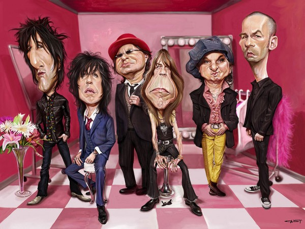 Caricatura de New York Dolls