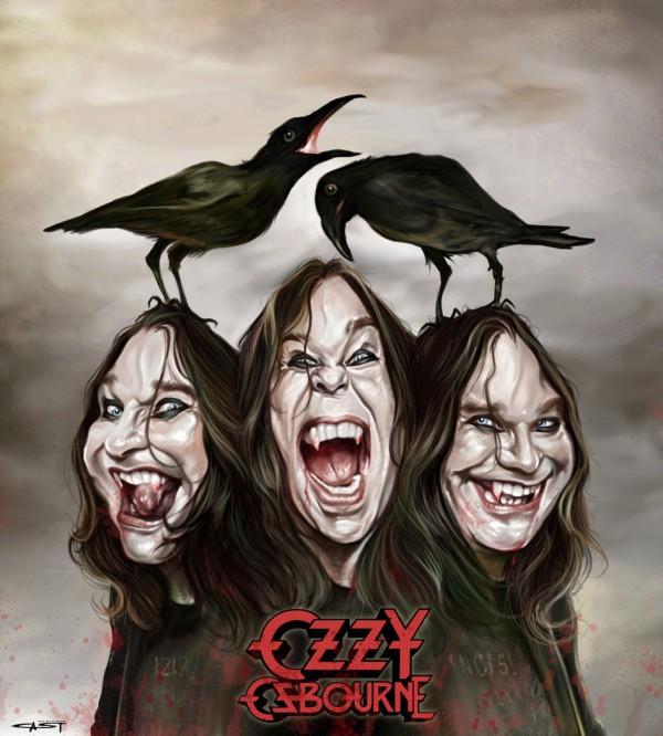 Caricatura de Ozzy Osbourne