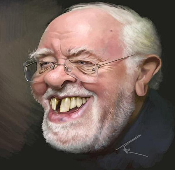 Caricatura de Richard Attenborough