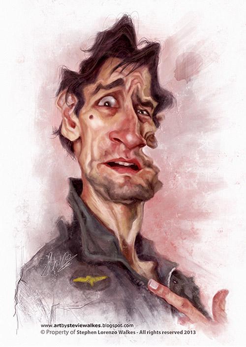 Caricatura de Robert De Niro