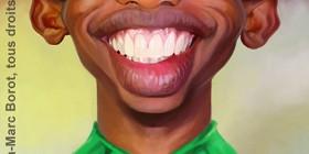 Caricatura de Samuel Eto'o