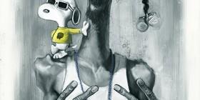 Caricatura de Snoop Dogg y Snoopy