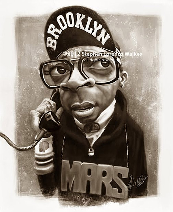 Caricatura de Spike lee como Mars Blackmon