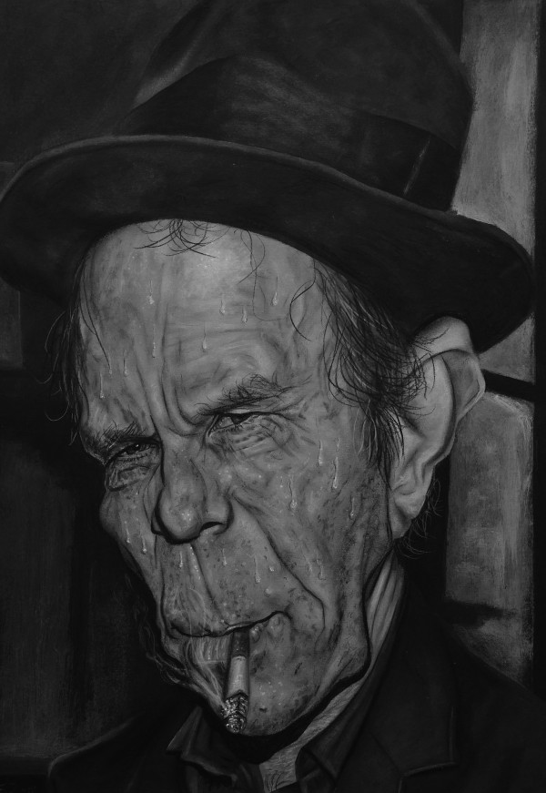 Caricatura de Tom Waits