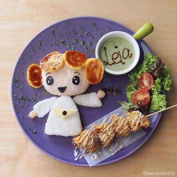 Comidas divertidas: Princesa Leia