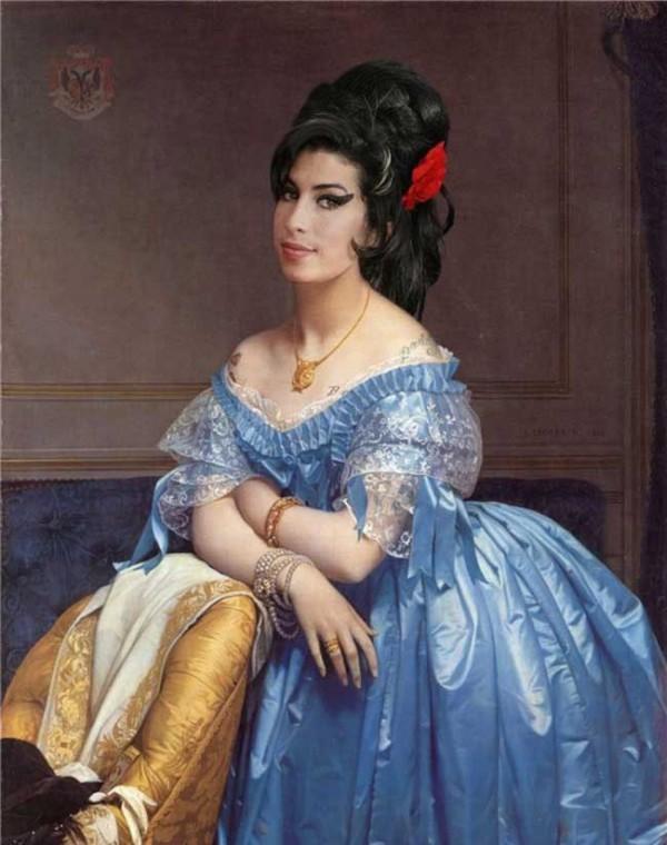 Cuadros clásicos con actores famosos: Amy Winehouse