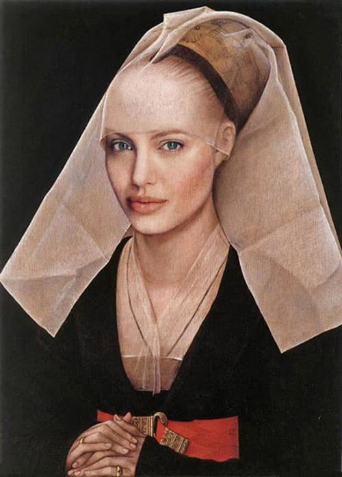 Cuadros clásicos con actores famosos: Angelina Jolie