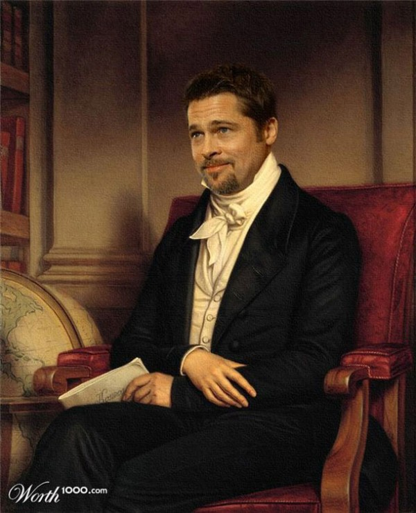 Cuadros clásicos con actores famosos: Brad Pitt