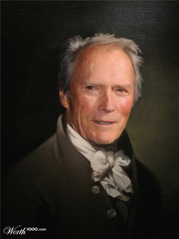 Cuadros clásicos con actores famosos: Clint Eastwood