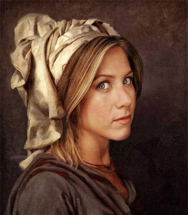 Cuadros clásicos con actores famosos: Jennifer Aniston