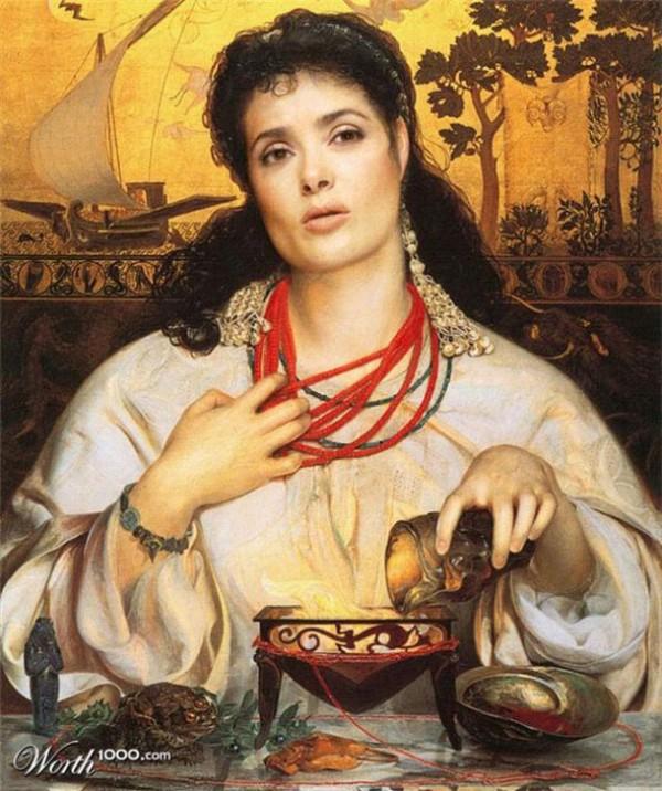 Cuadros clásicos con actores famosos: Salma Hayek