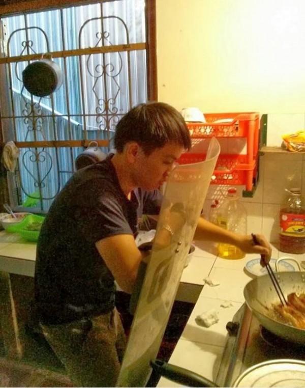 Cuando cocino me gusta protegerme