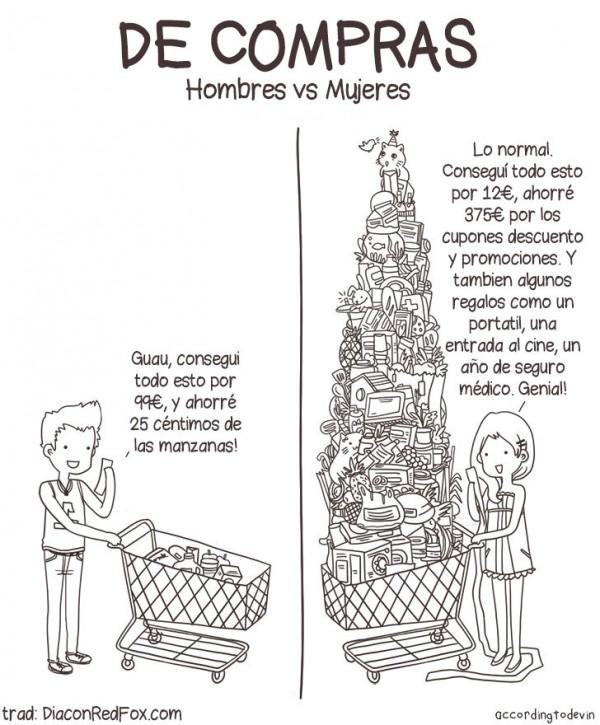 De compras. Hombres vs Mujeres