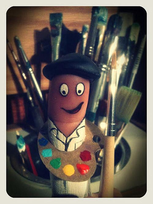 Dedo pintor