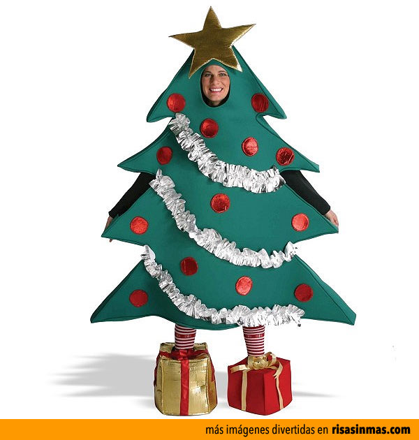 disfraz de rbol de navidad