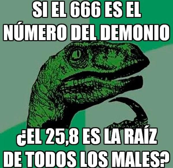 El 666 es el número del demonio