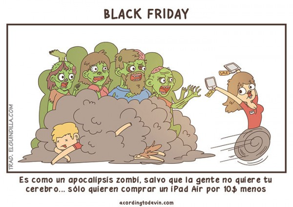 El black friday es como un apocalipsis zombie