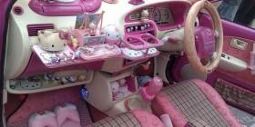 El coche de Hello Kitty