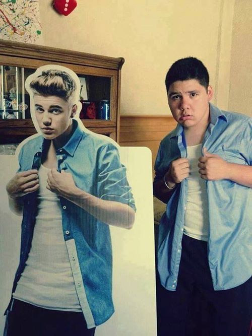 El doble de Justin Bieber