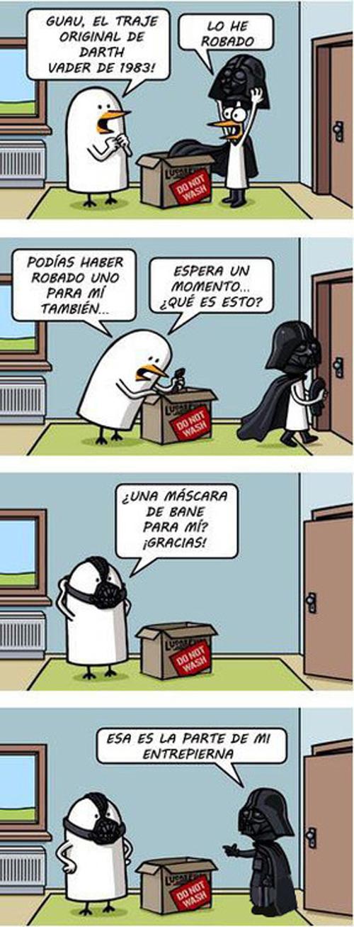 El traje original de Darth Vader