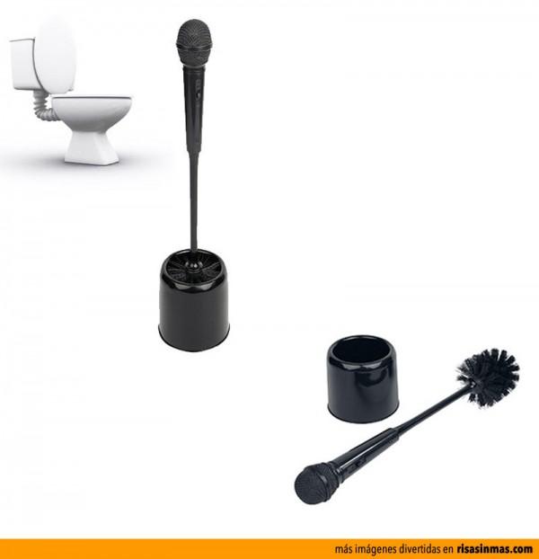 Escobilla de baño microfono