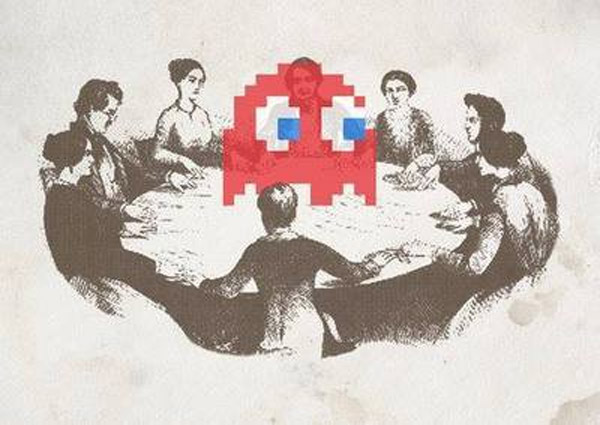 Fantasma en una sesión de espiritismo