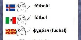 Fútbol en diferentes idiomas