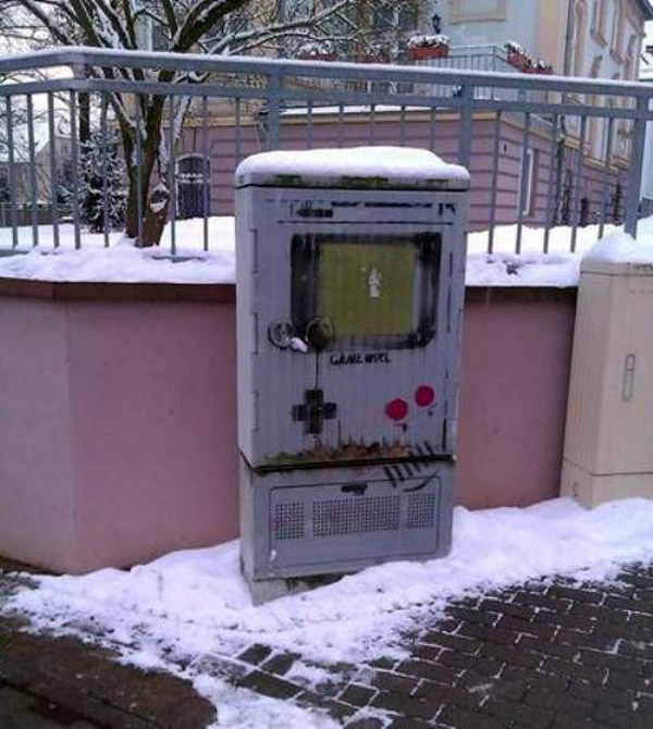 Game boy como arte callejero
