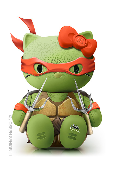 Hello Kitty Raphael (Tortugas ninja)