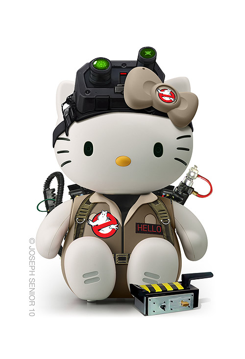 Hello Kitty como Cazafantasmas