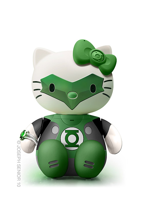 Hello Kitty como Linterna Verde