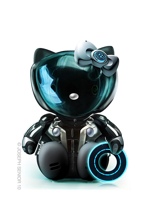 Hello Kitty como TRON