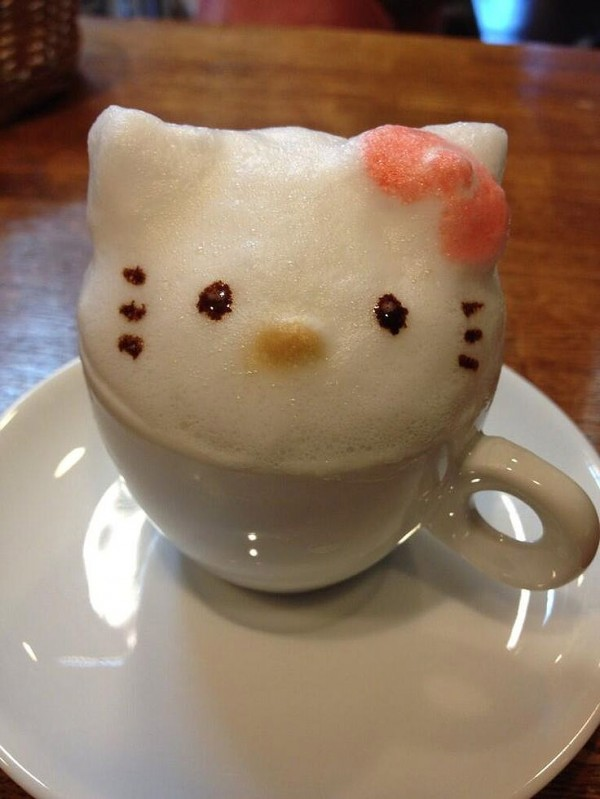 ¡Hello Kitty en mi café!