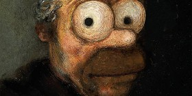 Homer Simpson como Rembrandt
