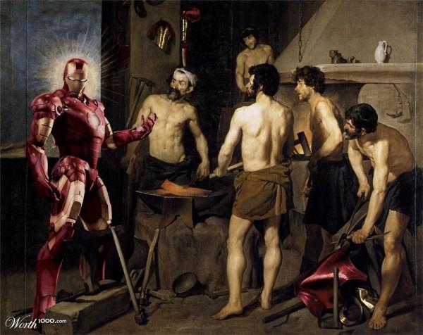 Iron Man en la fragua de Vulcano
