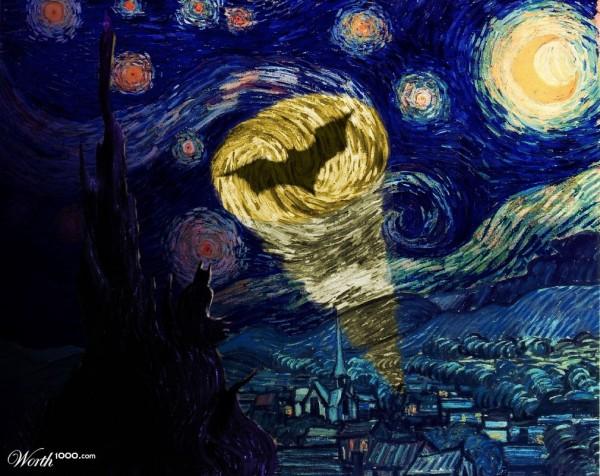 La Bati-señal pintada por Vincent van Gogh