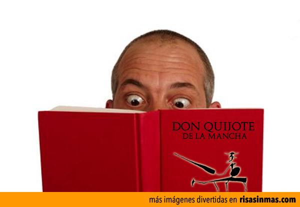 La cara que ponemos leyendo el quijote