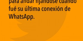La última conexión de WhatsApp