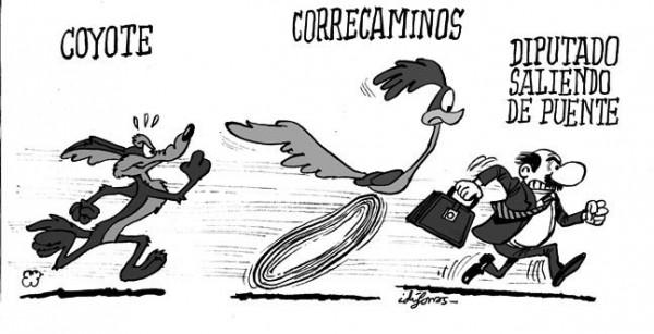 Los diputados salen del Congreso como el Correcaminos