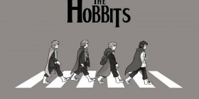 Los hobbits en Abbey Road