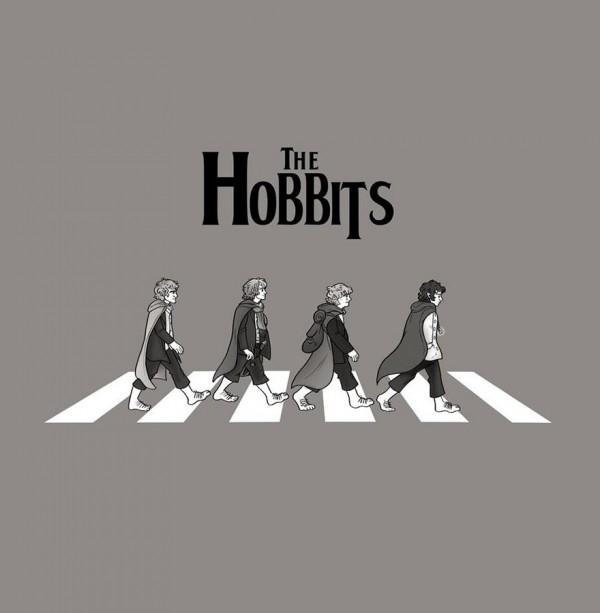 Los hobbits en Abbey Road